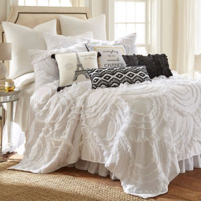 levtex home allie king quilt set in white