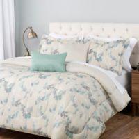 Catalina Estrada Signet Bonsai 5-Piece King Comforter Set in Grey/Teal