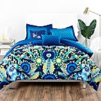 Catalina Estrada Ce Jardin 5-Piece King Reversible Comforter Set in Navy/Green