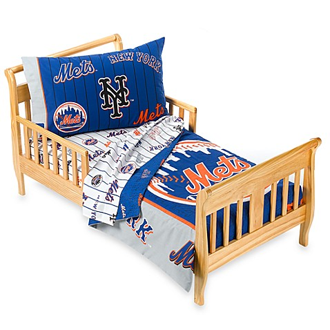 New York Mets 4 Piece Toddler Bedding by The Major League Baseball. New York Mets 4 Piece Toddler Bedding by The Major League Baseball