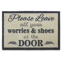 "Bosmere 30-Inch x 20-Inch ""Please Leave Your Worries and Shoes at the Door"" Muddle Mat"