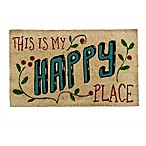 18-Inch x 30-Inch This is My Happy Place Door Mat in Black