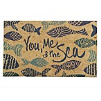 30-Inch x 18-Inch You Me And The Sea Door Mat in Black