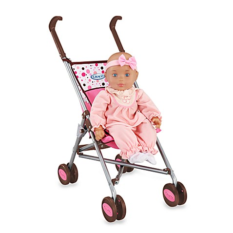 Graco 174 Umbrella Doll Stroller By Tollytots 174 Pink Amp Brown
