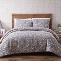 Brooklyn Loom Sand-Washed Full/Queen Duvet Cover Set in Grey