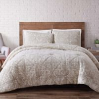 Brooklyn Loom Sand-Washed Twin XL Duvet Cover Set in White
