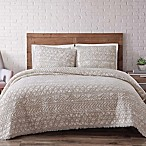 Brooklyn Loom Sand-Washed Reversible King Quilt Set in White