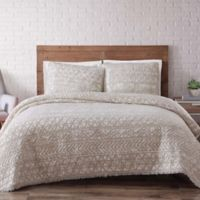 Brooklyn Loom Sand-Washed Reversible Full/Queen Quilt Set in White