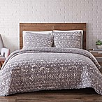 Brooklyn Loom Sand-Washed Reversible Full/Queen Quilt Set in Grey