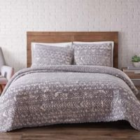 Brooklyn Loom Sand-Washed Reversible Twin XL Quilt Set in Grey