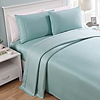 Seedlings Thomaspaul® 300-Thread-Count Solid Queen Sheet Set in Aqua