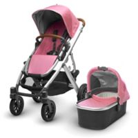 UPPAbaby® VISTA 2017 Stroller with Leather handles in Sabrina (Orchid Fabric/Silver Frame)