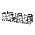 Spectrum® Vintage Small Wall Mount Basket in Grey