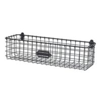 Spectrum Vintage Small Wall Mount Basket in Grey