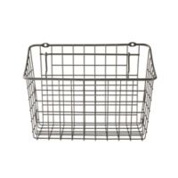 Spectrum 5.5-Inch x 10.25-Inch Steel Medium Pegboard & Wall Mount Basket in Grey