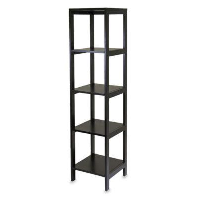 Bedford 5-Shelf Espresso Bookcase
