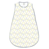 SwaddleDesigns® zzZipMe® Size 0-6M Lolli Fleur Sack in Yellow/Grey