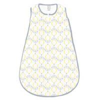 SwaddleDesigns® zzZipMe® Size 6-12M Lolli Fleur Sack in Yellow/Grey