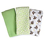 Swaddleme® 3-Pack Go Bananas Muslin Swaddle Blankets in Green