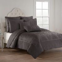 Hartley Reversible King Quilt Set in Brown