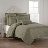 Lilith Reversible Full/Queen Quilt Set in Taupe