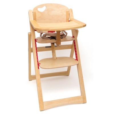 Lipper Beechwood Folding High Chair