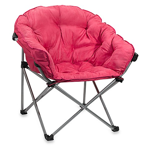 Folding Club Chair in Pink