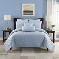 Paloma Reversible Full/Queen Quilt Set in Light Grey