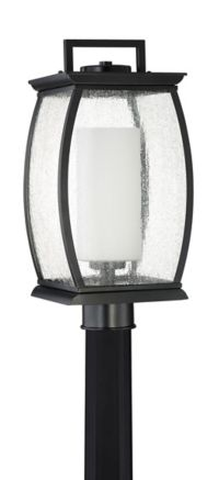 Quoizel® Terrace Post-Mount Outdoor Lantern in Mystic Black