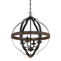 Quoizel Siren 4-Light Cage Chandelier in Black