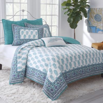 Buy Turquoise Reversible Quilt From Bed Bath Beyond