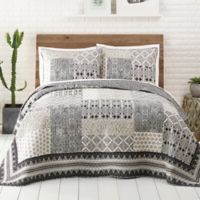 Jessica Simpson Ebony and Ivory Twin Quilt in Black/White