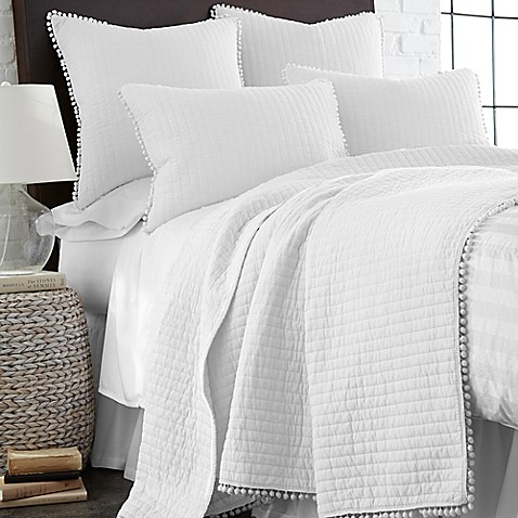 Levtex Home Pom Pom Reversible Quilt In White Bed Bath Beyond