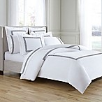 Kassatex Greek Key King Duvet Cover in White/Charcoal