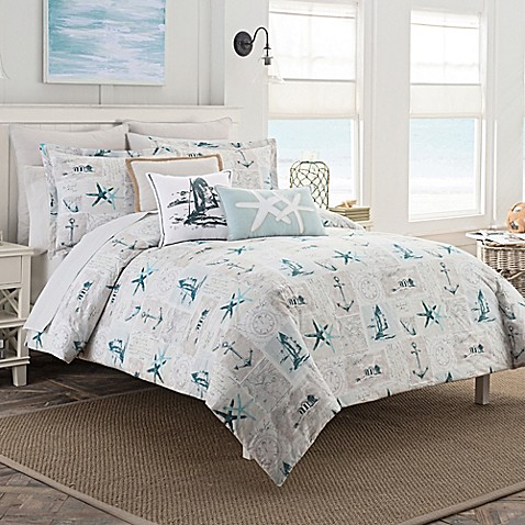 Coastal Life Nantucket Duvet Cover Set Bed Bath Amp Beyond