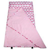 Wildkin Big Dot Easy Clean Nap Mat in White/Pink