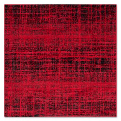 safavieh adirondack 4foot square area rug in red