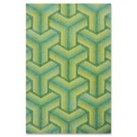 Donny Osmond Home Escape Ocean Connections 3-Foot 3-Inch x 5-Foot 3-Inch Indoor/Outdoor Area Rug