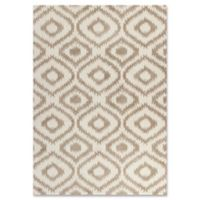 Oasis 1651 Concentro Shag 3-Foot 3-Inch x 5-Foot 3-Inch Area Rug in Ivory/Beige
