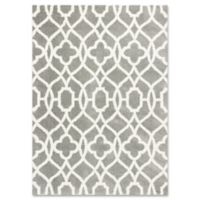 Oasis Ironwork 3-Foot 3-Inch x 5-Foot 3-Inch Accent Rug in Grey/Ivory