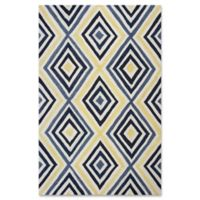 Donny Osmond Home Escape Dimensions 5-Foot x 7-Foot Area Rug in Ivory/Blue