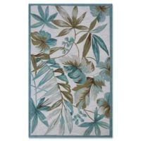 KAS Tropica Coral 5-Foot x 7-Foot 6-Inch Area Rug in Ivory