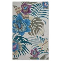 KAS Coral Palm 3-Foot 3-Inch x 5-Foot 3-Inch Area Rug in Sand