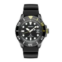 Seiko Prospex Men's 43.5mm Solar Diver Watch in Black Ion-Plated Stainless Steel