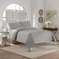 Marble Hill Nadia King Quilt Set in Grey