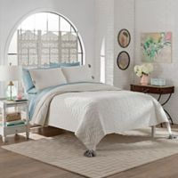 Marble Hill Nadia Queen Quilt Set in White