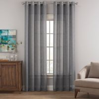 Costas Terra Nation 84-Inch Sheer Grommet Top Window Curtain Panel in Grey