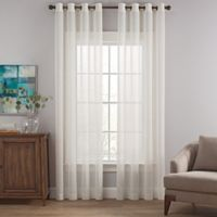 Costas Terra Nation 108-Inch Sheer Grommet Top Window Curtain Panel in Natural