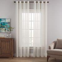 Costas Terra Nation 84-Inch Sheer Grommet Top Window Curtain Panel in Natural