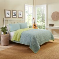 Vue® Zuma Beach Reversible King Quilt Set in Aqua